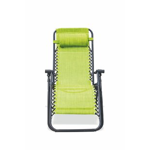 Rio Reclining/Folding Beach Chair With Cushion By Galileo