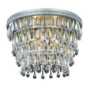 House of Hampton Fonteyne 3-Light Flush Mount
