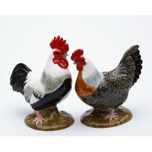 Rooster and Hen 2-Piece Salt & Pepper Set