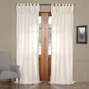 Tie Top Sheer Curtains Wayfair