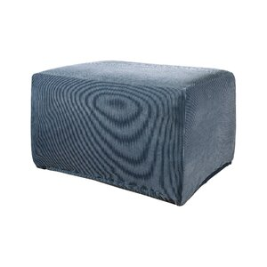 Stretch Stripe Ottoman Slipcover