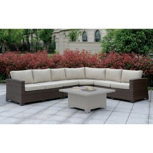 Asotin Contemporary Patio Sectional with Cushions