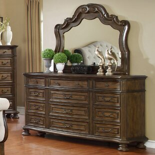 Blackshear 12 Drawer Dresser with Mirror
