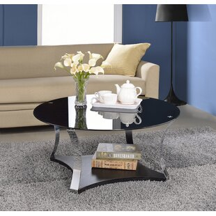 Cassius Glass Coffee Table by Orren Ellis No Copoun