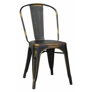 Williston Forge Guard Metal Dining Chair (Set of 4)