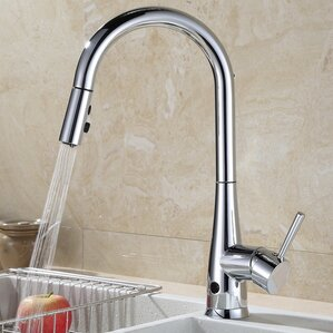 RunFine Group Touchless Single Handle Deck Mounted Kitchen Faucet with Spray Head