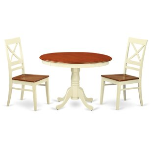 Hartland 3 Piece Dining Set by Wooden Importers