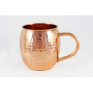 16 oz Hammered Copper Barrel Mug