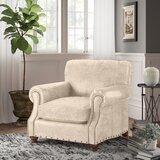 Aaliyah 40'' Wide Genuine Leather Top Grain Leather Down Cushion Club Chair