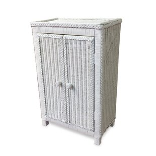 Free Standing Wicker Accent Cabinet by ElanaMar Designs
