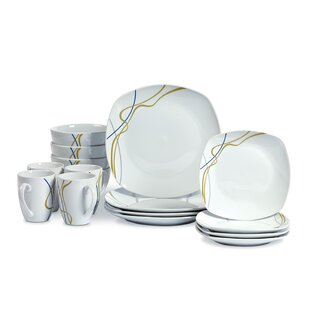 Eckard 16 Piece Dinnerware Set, Service for 4