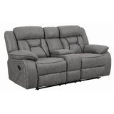 Aarons Reclining 75 Pillow Top Arm Loveseat by Red Barrel Studio®