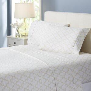 wayfair basics trellis 4 piece sheet set - Queen Bed Sheets