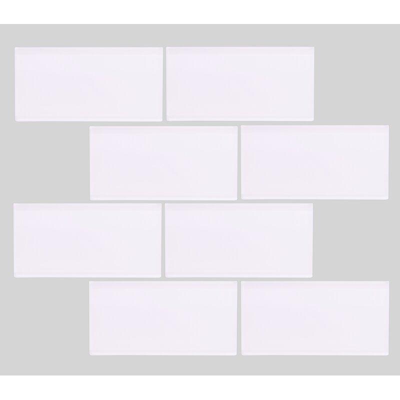 Vetromani Valencia 3 X 6 Super White Glass Subway Tile Wayfair