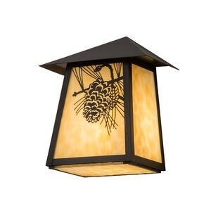 Loon Peak Wyndham Winter Pine Outdoor Flush Mount