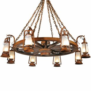 America's Finest Lighting Company 49er Series 8-Light Shaded Chandelier