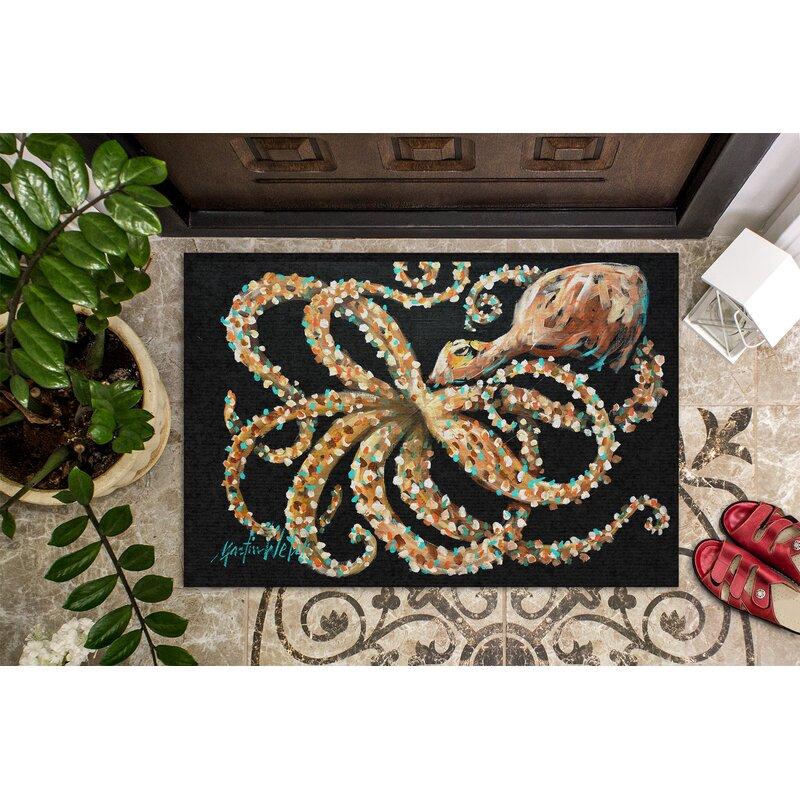 Highland Dunes Ridenour Eye On You Octopus 36 In X 24 In Non Slip Outdoor Door Mat Reviews Wayfair
