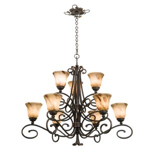 Kalco Amelie 9-Light Shaded Chandelier