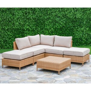 Tamworth 6 Piece Arrow Deep Seating Group with Cushion
