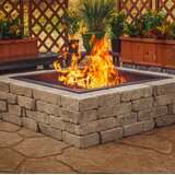 """10"""" H x 41.5"""" W Steel Wood Burning Outdoor Fire Ring"""