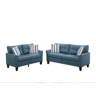 Kozerski Glossy 2 Piece Living Room Set by Red Barrel Studio