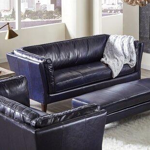 Latitude Run Betton Leather Sofa