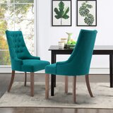 Adeodata Tufted Upholstered Parsons Chair (Set of 2) by Red Barrel Studio®
