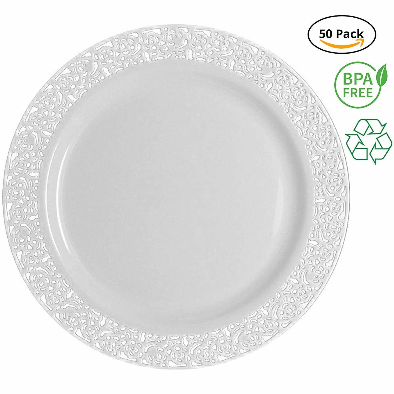 Party Joy Lace Plastic Disposable Salad Plate Wayfair