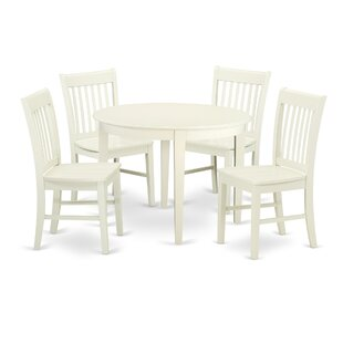 Hillhouse 5 Piece Solid Wood Dining Set Red Barrel Studio