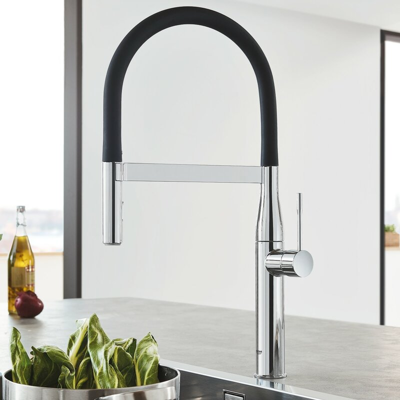 Grohe Essence Single Handle Kitchen Faucet with SilkMove® & Reviews ...