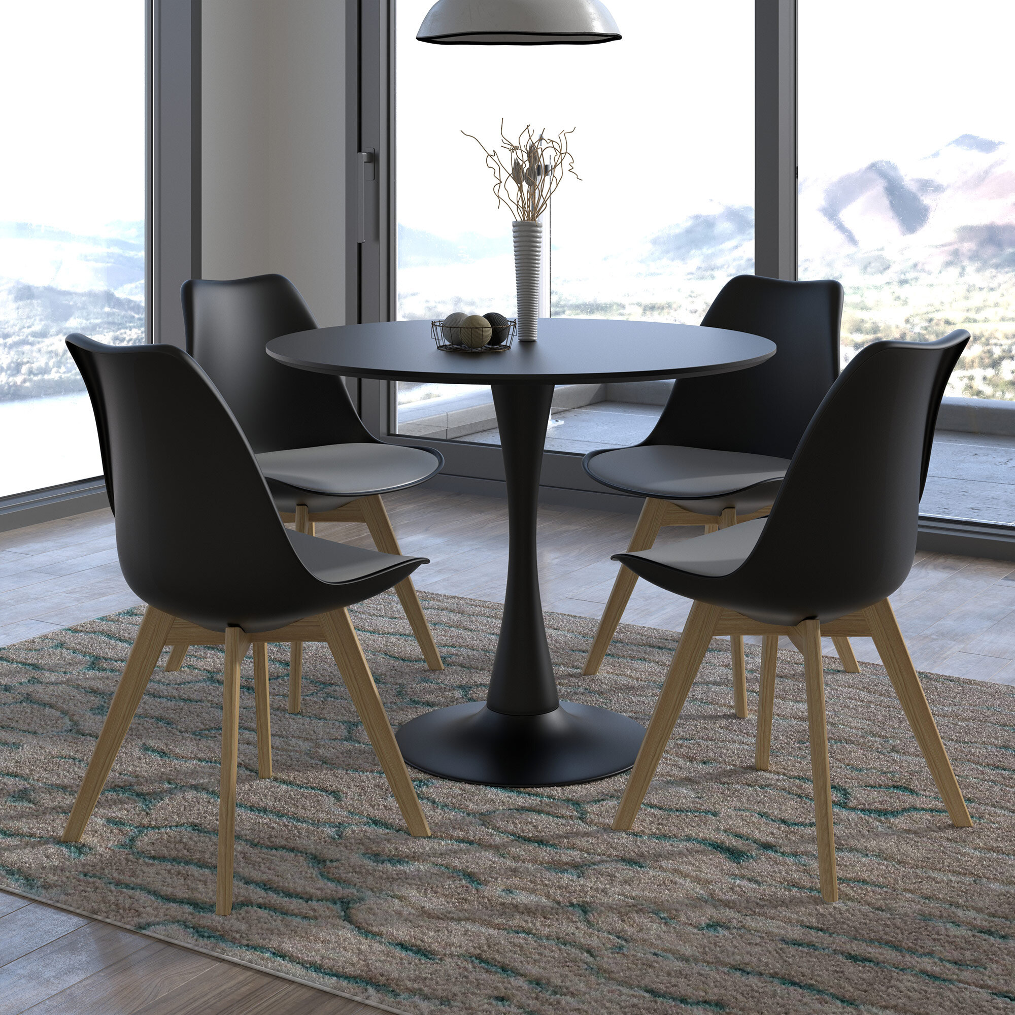Modern Round Seats 4 Dining Room Sets Allmodern