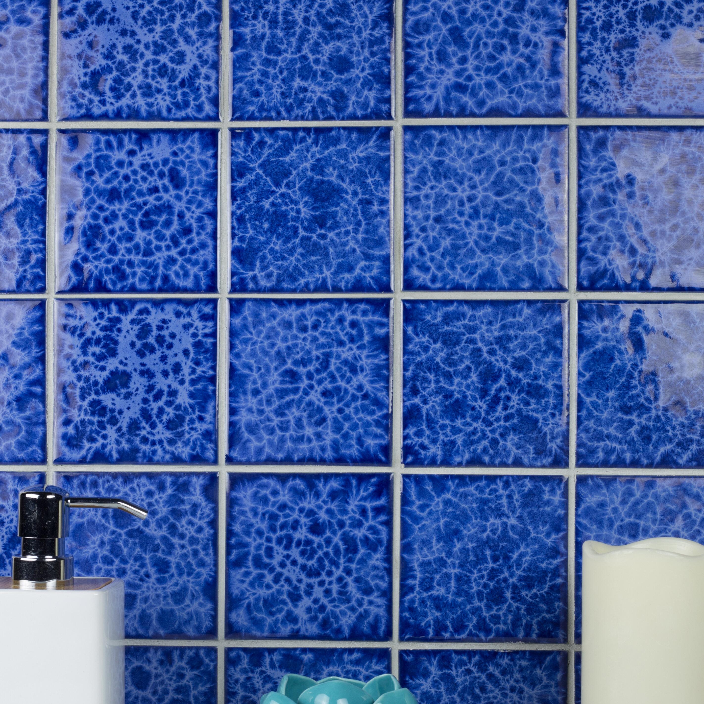 Abolos Monet Swimming Pool Series 4 X 4 Porcelain Mosaic Tile Wayfair