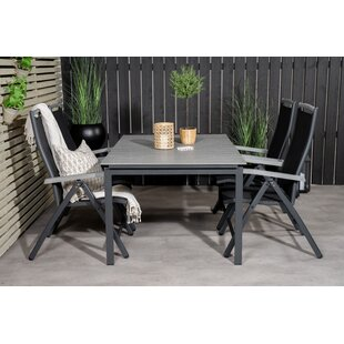 Akiko 4 Seater Dining Set By Sol 72 Outdoor