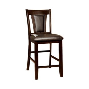 Johannes Contemporary Counter Height Upholstered Dining Chair (Set of 2)