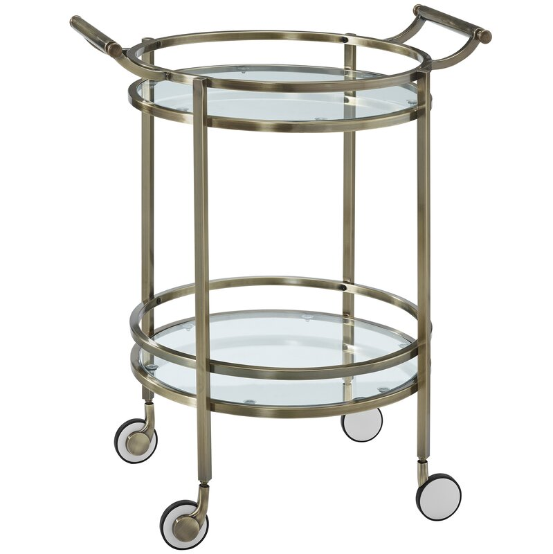 Calumet Round Bar Cart