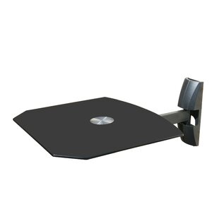 Single Wall Mount Shelf for DVD VCR Cable Box PS3 XBOX Stereo Blu - Ray Components