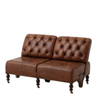 Eichholtz Tete Leather Reclining Loveseat