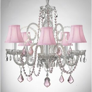 Kaufman 5-Light Shaded Chandelier by House of Hampton