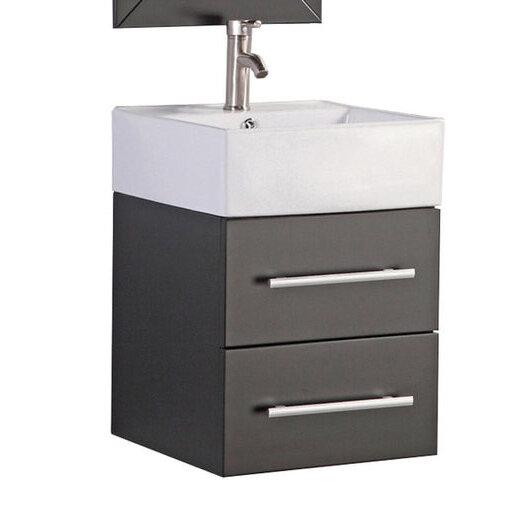 Orren Ellis Poulos Wall Mounted Modern 18 Single Bathroom Vanity Set Wayfair