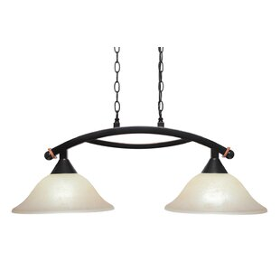Fleur De Lis Living Blankenship 2-Light Adjustable Kitchen Island Pendant