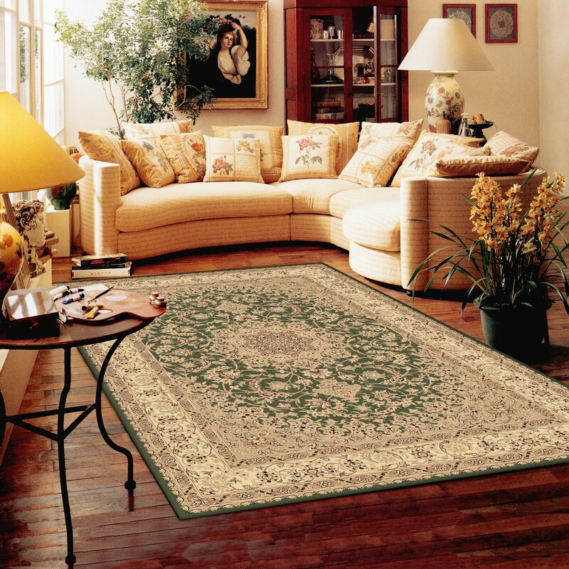 Astoria Grand Willett Atterbury Duncaster Ivory Rug In Green Reviews Wayfair