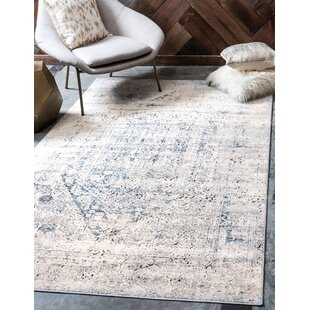 Abbeville Gray/Navy Blue Area Rug by Laurel Foundry Modern Farmhouse