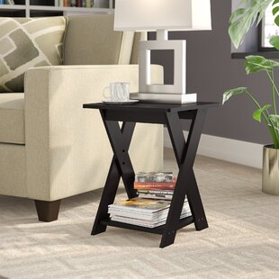 Artesian Modern Simplistic Criss-Crossed End Table by Ebern Designs