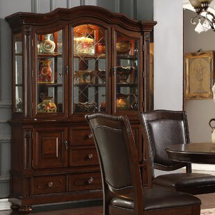 Grundy Lighted China Cabinet by Three Posts