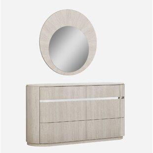 Gann 5 Drawer Dresser with Mirror
