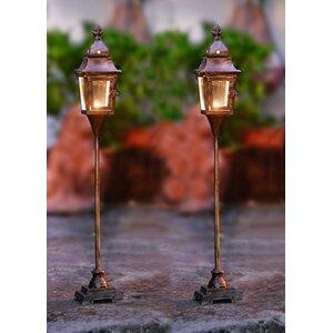 Metal/Glass Lantern (Set of 2)