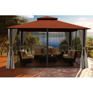 Santa Cruz 11 Ft. W x 14 Ft. D Aluminum Patio Gazebo by Paragon-Outdoor