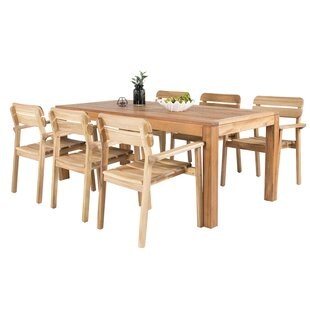 Samaira 6 Seater Dining Set By Sol 72 Outdoor