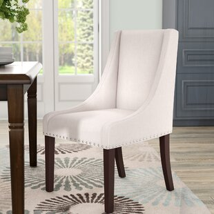 Flossmoor Side Chair in Linen - Taupe with Nailheads (Set of 2)