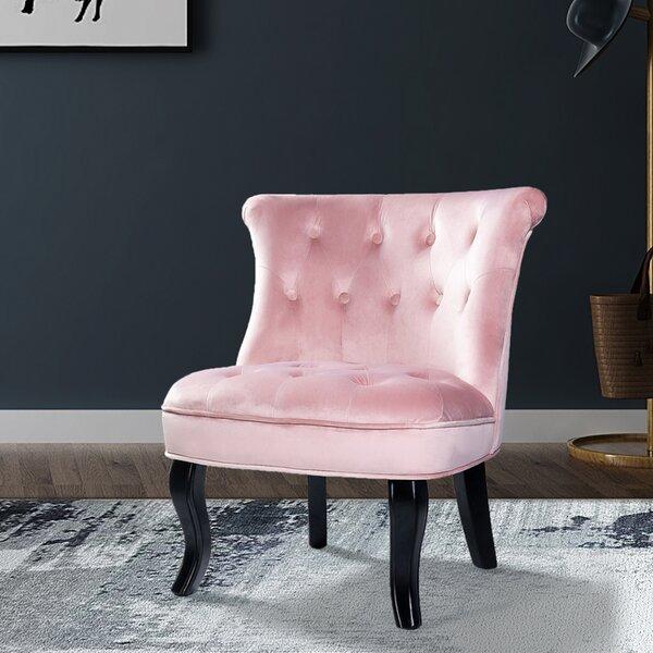 Pink Velvet Tufted Chair | Wayfair